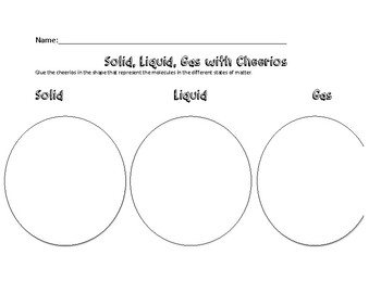 Solid, Liquid, and Gas Cheerio Activity
