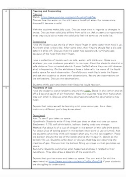 Solid Liquid and Gas! - Science Unit Lesson Plans