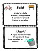 Solid, Liquid, and Gas Vocabulary Cards