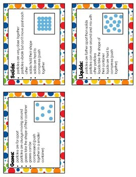 Solid, Liquid or Gas? Clip Cards