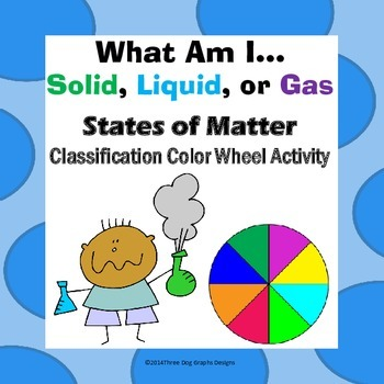 States of Matter Solid, Liquid, or Gas? Classification Color Wheel Activity