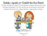 Solid, Liquid or Gas Write the Room
