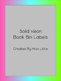 Solid Neon Book Bin Labels