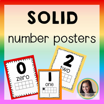 Solid Number Posters