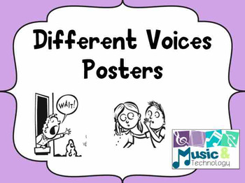 Solid Pastel Different Voice Posters