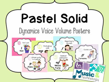 Solid Pastel Dynamic Voice Volume Posters