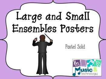 Solid Pastel Large and Small Ensemble Posters
