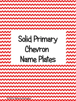 Solid Primary Chevron Name Plates