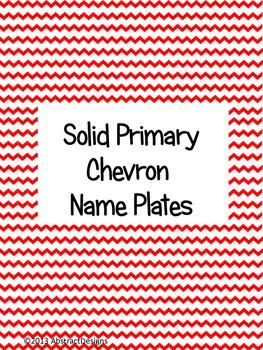 Solid Primary Chevron Name Plates