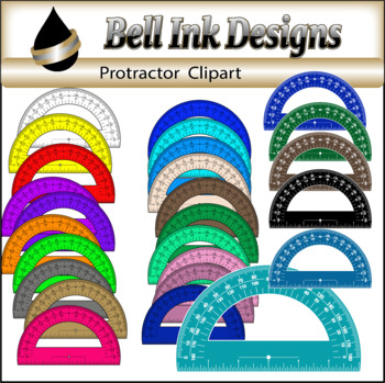 Solid Protractor Clipart