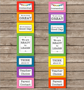 Solid Rainbow Color Behavior Clip Chart Editable