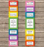 Solid Rainbow Color Behavior Clip Chart Editable