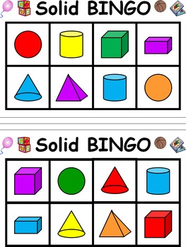 Solid Shape Bingo