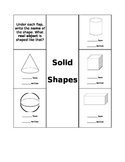 Solid Shape Interactive Math Journal Page