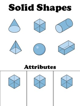 Solid Shape guided notes/foldable