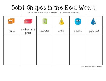 Solid Shapes (3D) Activities