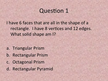 Solid Shapes (3D) PPT