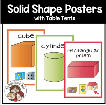 Solid Shapes (3D) Posters
