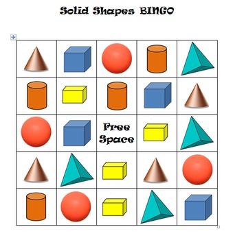 Solid Shapes BINGO