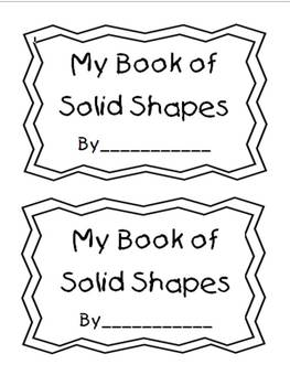 Solid Shapes Book Activity for Kindergarten and First Grade