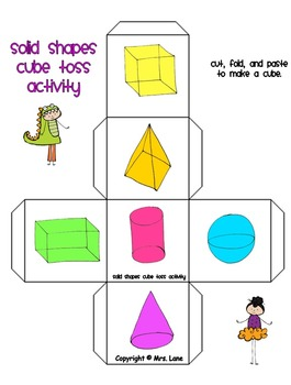 Solid Shapes Cube Toss Activity