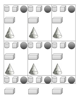 Solid Shapes Flash Cards
