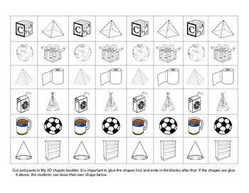 Solid Shapes - Foldable Booklet