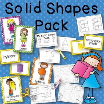 Solid Shapes Pack Posters, Book to Create, Matching Cards,