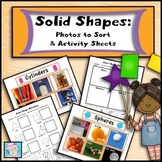 3D Shapes Worksheets Kindergarten 1st Grade | Math Centers Kindergarten 1st