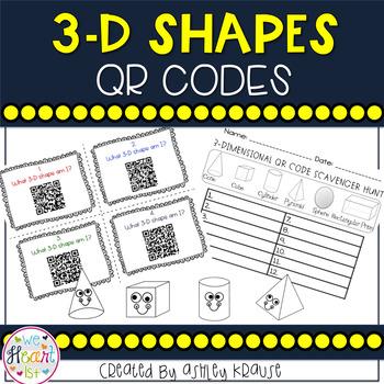 Solid Shapes QR Code Task Cards