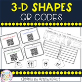 Solid Shapes QR Code Task Cards