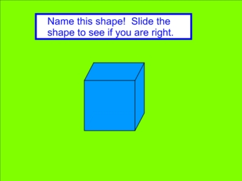 Solid Shapes Smartboard Lesson