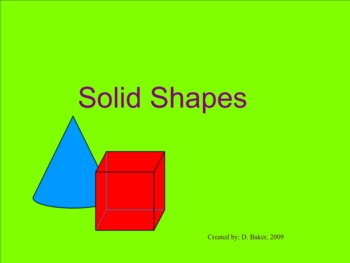 Solid Shapes Smartboard Lesson