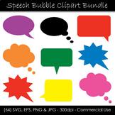 Solid Speech Bubble Clipart Bundle