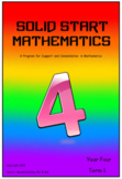 Solid Start Mathematics: Year Four, Term One