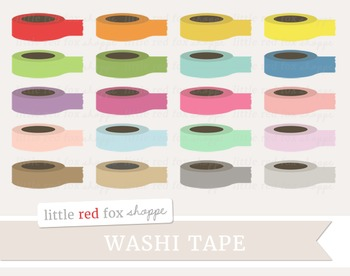 Solid Tape Clipart; Washi, Office Supplies