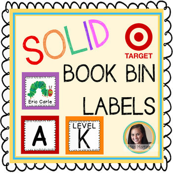 Solid Target Book Bin Labels