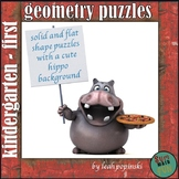 Geometry Shape Puzzle Center - Matching Pictures to Shape Words