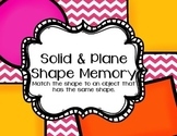 Solid and Plane Shape Memory Game