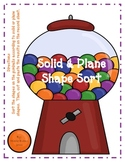Solid and Plane Shape Sort