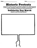 """Solidarity Day March Worksheet """"Protest Sign"""""""