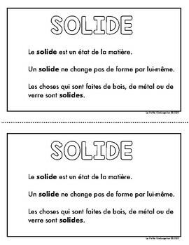 Solide, Liquide et Gaz  (un livre de science)