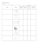 Solids Attribute Chart Worksheet