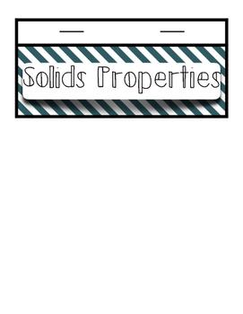 Solids Flip Book