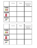 Solids, Liquids, Gases Chart for Notebooking