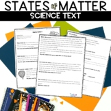 States of Matter Reading Worksheet Packet