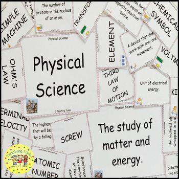 Solids Liquids Gases Vocabulary Cards
