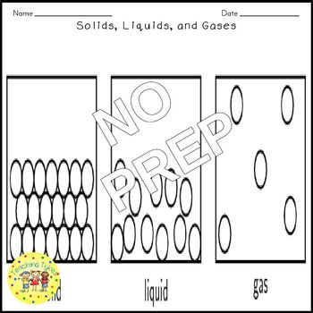 Solids Liquids Gases Science Crossword Puzzle Coloring Worksheet Middle School
