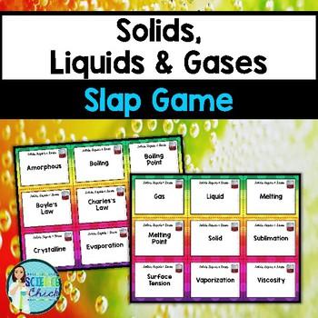 Solids, Liquids & Gases Slap Game