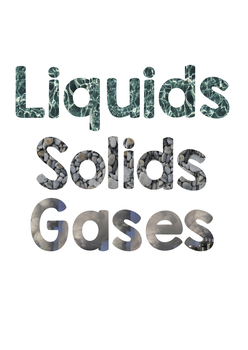 Solids, Liquids and Gases Bulletin Board Letters